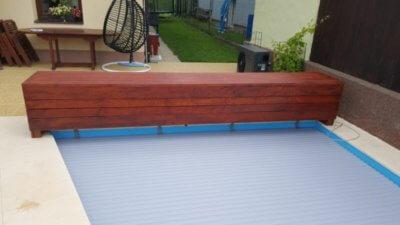 Dřevěné obložení krytu lamel